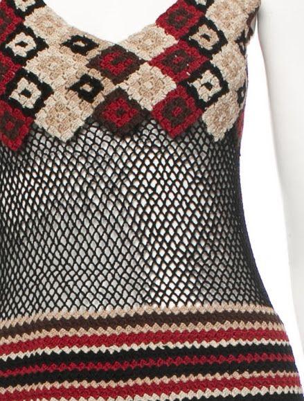 Burberry #crochet dress via Outstanding Crochet