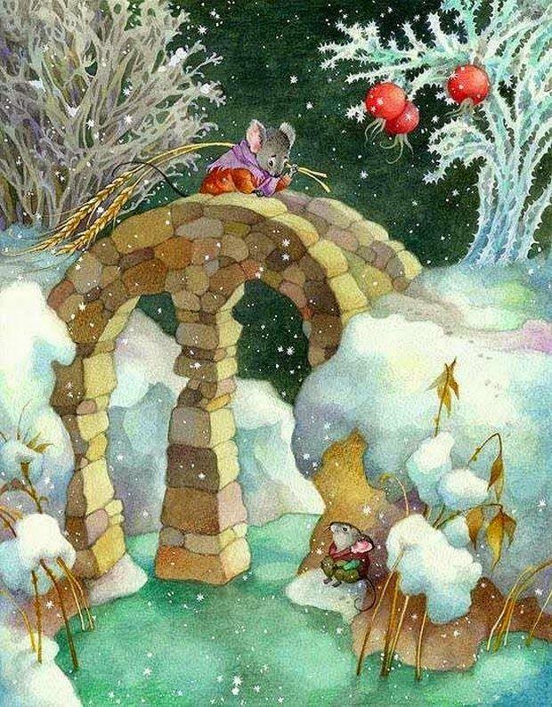 Pinzellades al món: Ratolinets en Nadal / Ratoncitos en Navidad / Little mice at Christmas