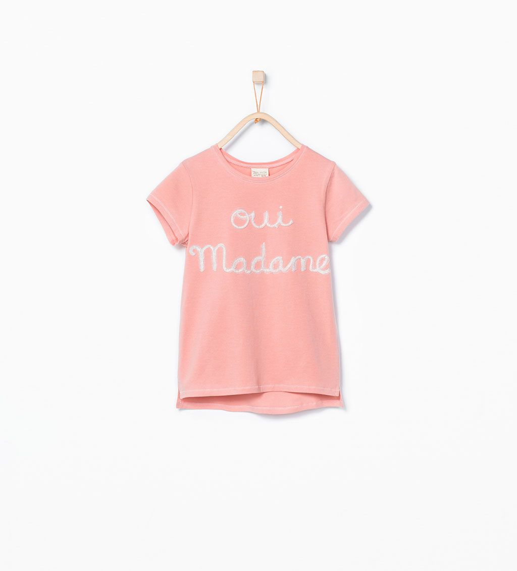 Image 1 Of Shimmer Tulle Embroidered T Shirt From Zara With Images Embroidered Tshirt Shirts For Girls Clothes