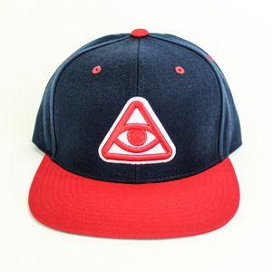 Snapback hat with contrast brim efbe1cc36eb2