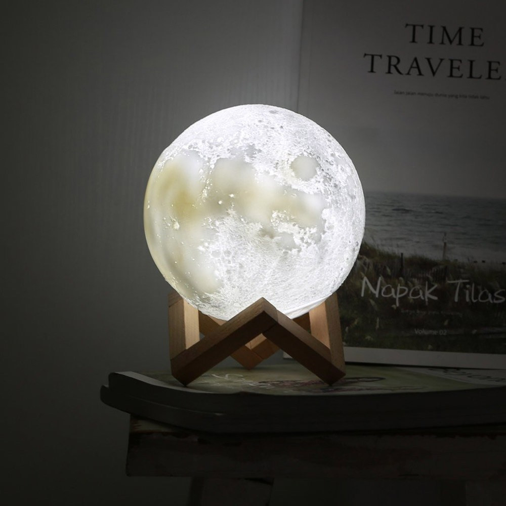 Moon Lamp 3d Decovry Com In 2020 Light Decorations Desk Decor Lamp