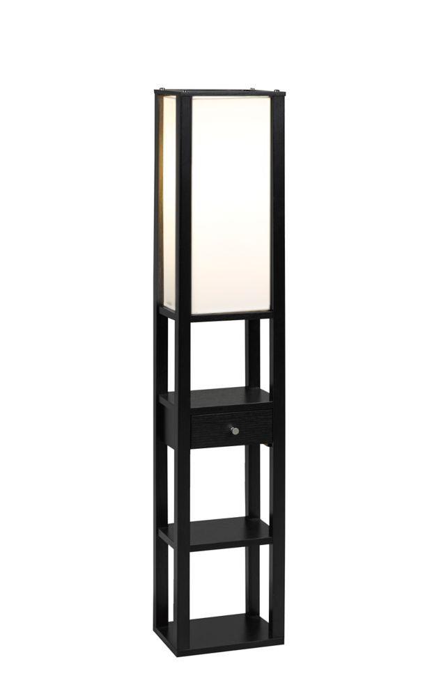 3 Tier Floor Lamp With Storage Drawer Black Floor Lamp Lamp Column Floor Lamp