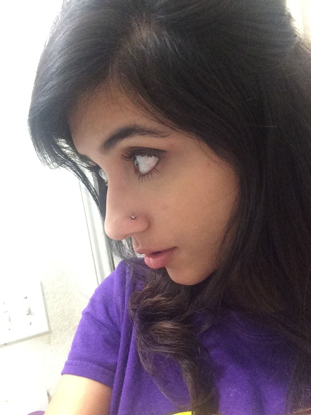 Image result for nose piercing placement