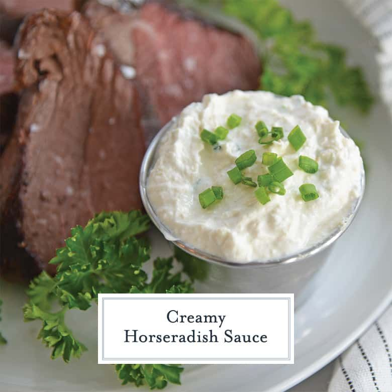 Creamy Horseradish Sauce Comes Together In Less Than 5 Minutes With A Sour Cream Base Tangy Horse In 2020 Horseradish Sauce Creamy Horseradish Sauce Steak Cream Sauce
