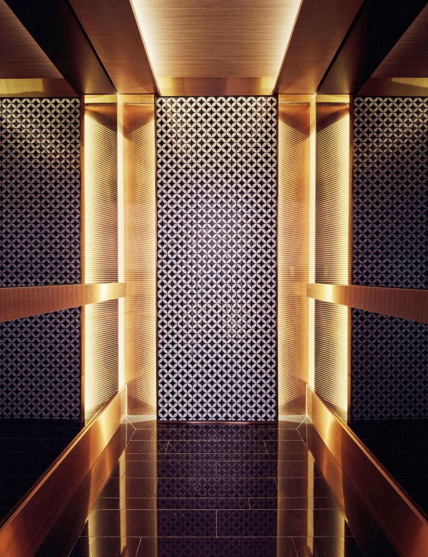 Lift Interior Lighting Mirrors Elevator Lobby