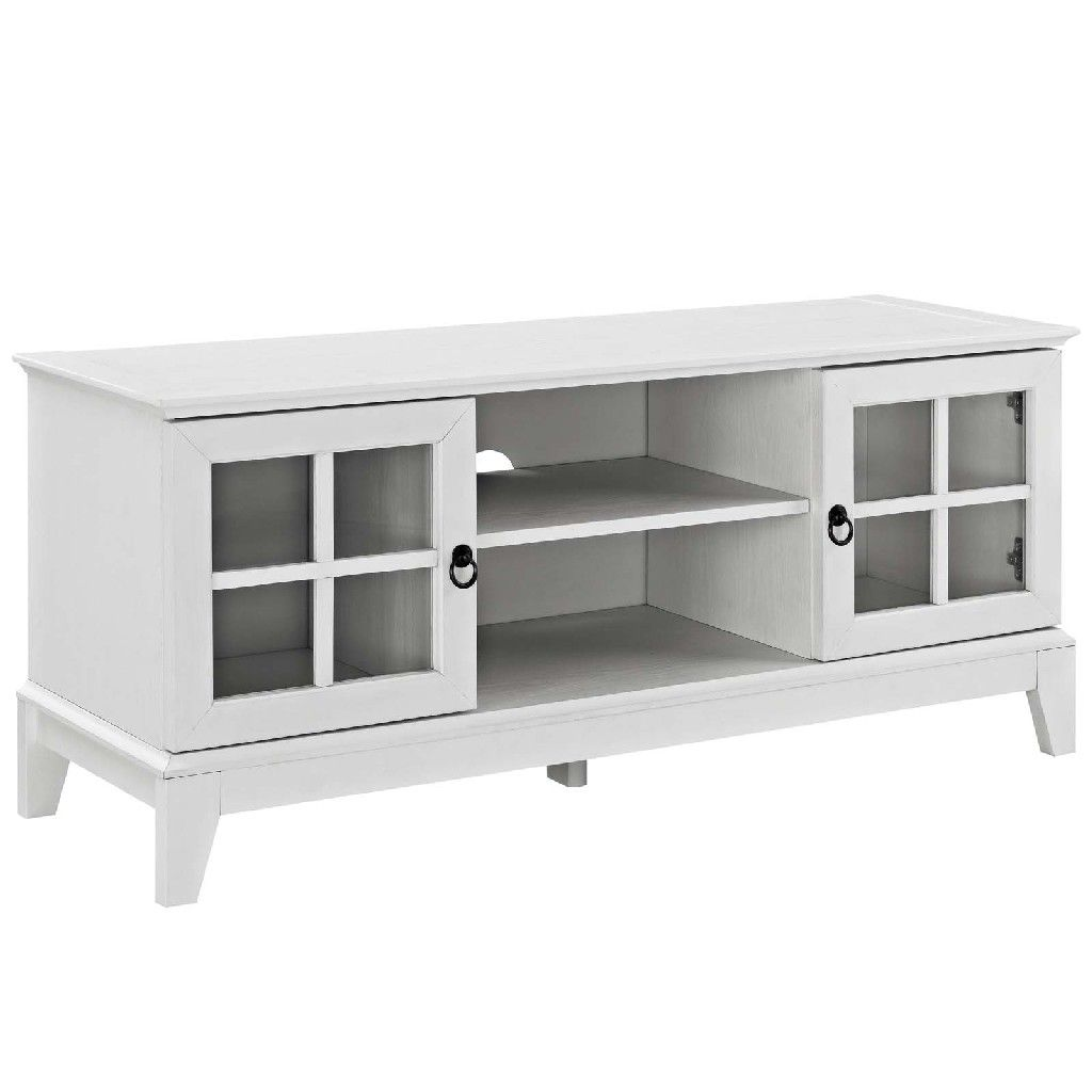 Isle 47 Tv Stand Eei 2544 Whi White Tv Stands White Tv Tv Stand