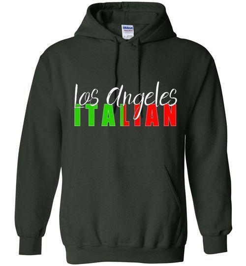 Los Angeles Italian Dark Color Unisex Pull Over Hoodie