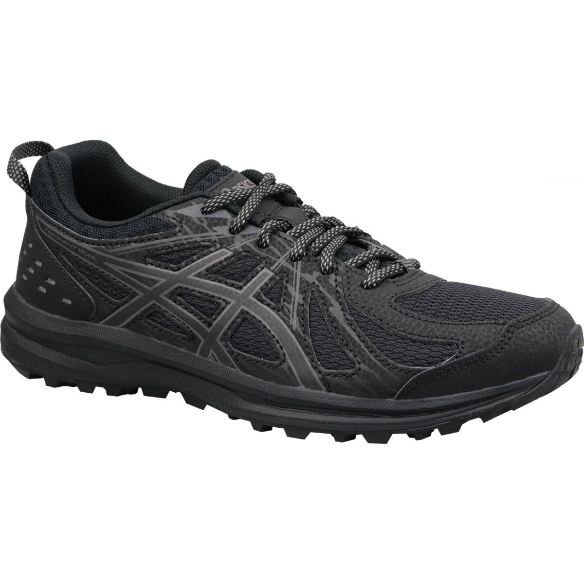 Buty Biegowe Asics Frequent Trail W 1012a022 001 Czarne Black Running Shoes Running Shoes Asics Women Shoes
