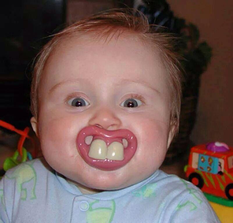 Buck teeth binky | Funny pacifiers, Funny babies, Cute ...