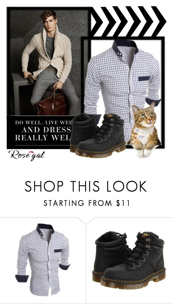 """""""Rosegal"""" by annasii ❤ liked on Polyvore featuring Massimo Dutti, Dr. Martens, men's fashion and menswear"""