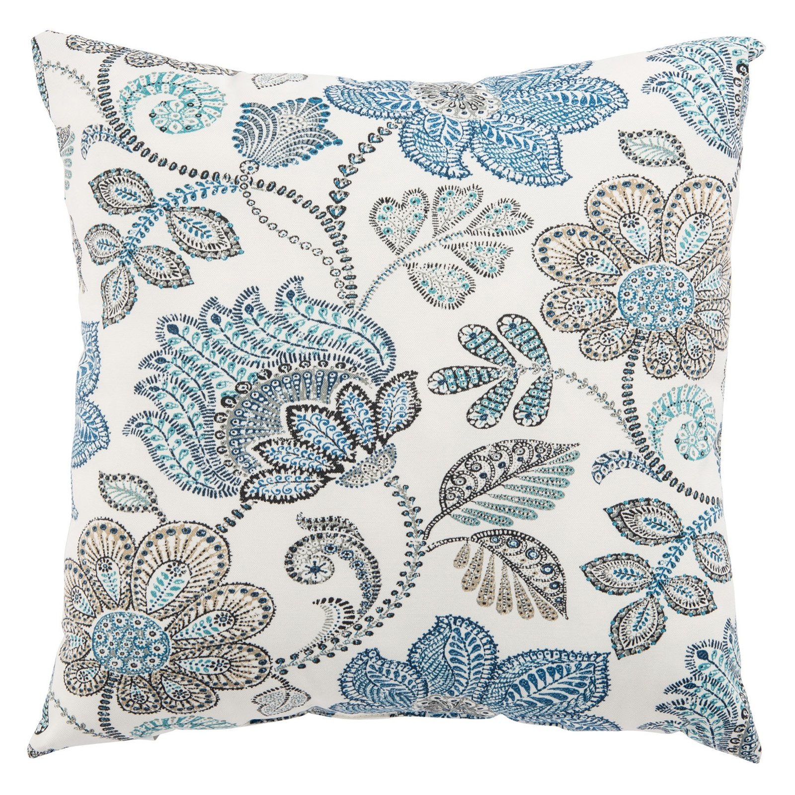Jaipur Rugs Veranda Paisley Floral Indoor Throw Pillow