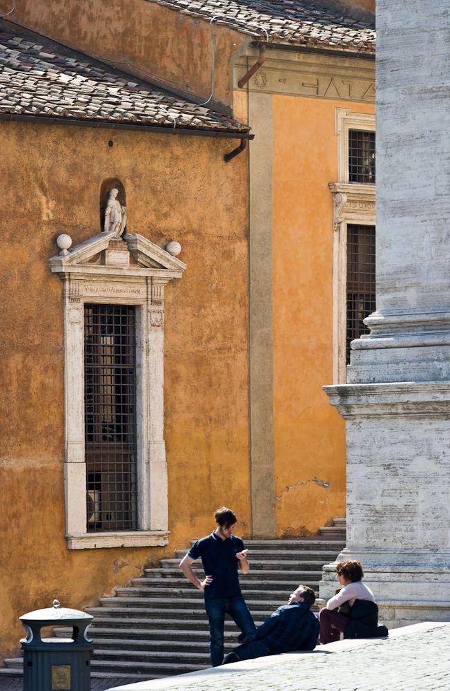 In Piazza Campidoglio, Capitoline Hill, Rome, Italy