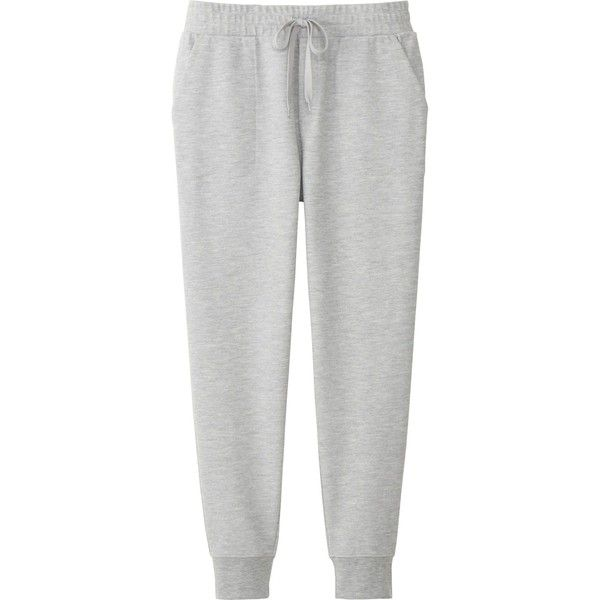 UNIQLO Women's Milano Ribbed Jogger Cut Sewn Pants ($30) ❤ liked on Polyvore featuring pant, grey and uniqlo