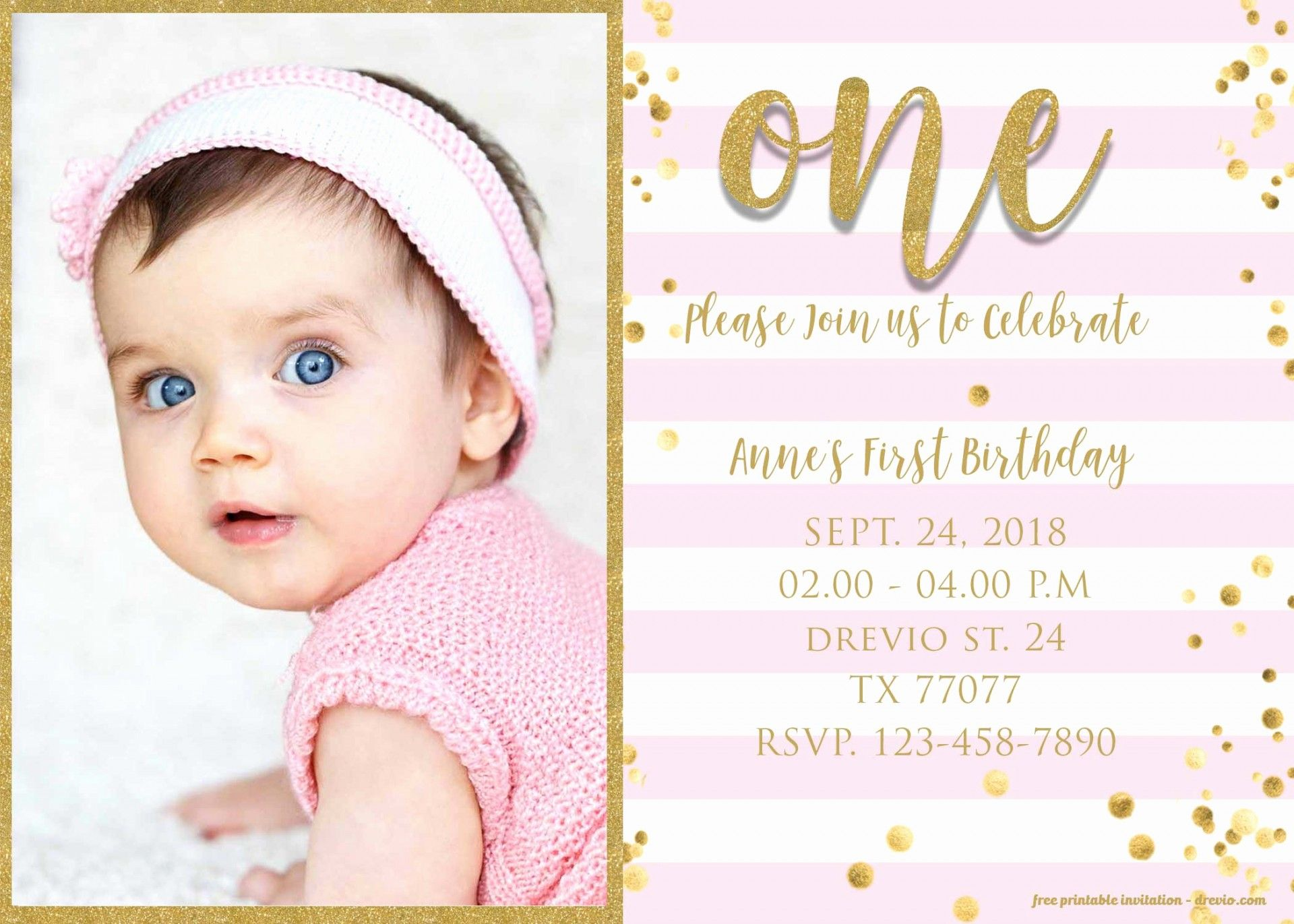 The Outstanding 1st Birthday Invitation Templates Free Download Zohre Pertaining To F 1st Birthday Invitations Girl 1st Birthday Invitations Pink Invitations