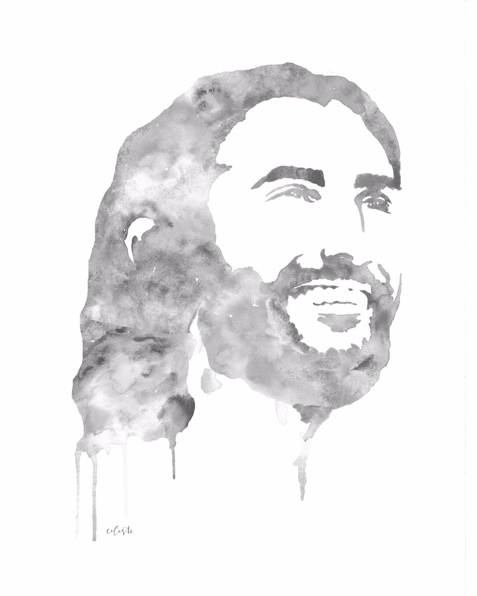 Jesus Christ The Savior Grey Tones Jesus Painting Jesus Art