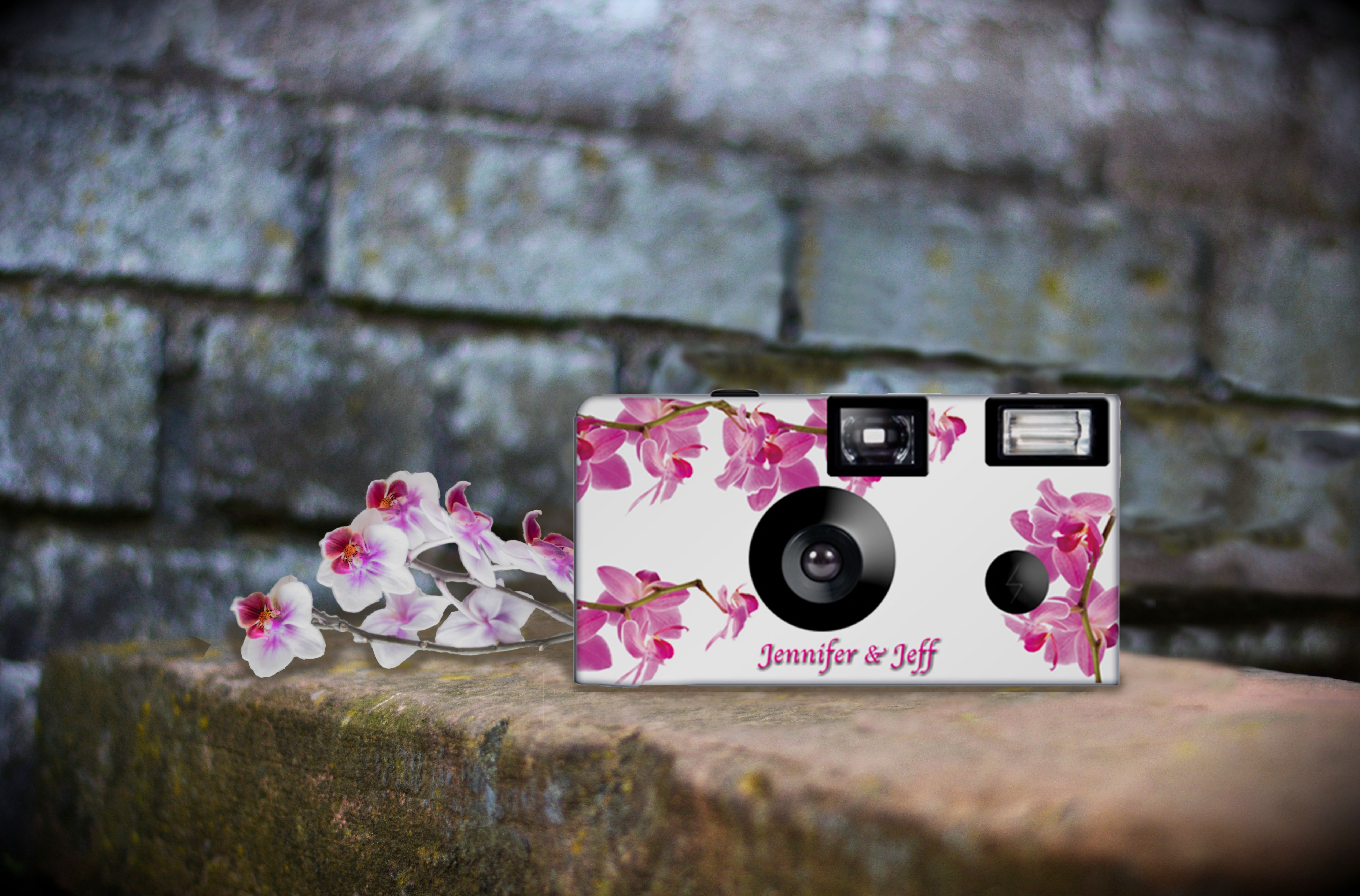 10 Cameras Spring Orchid Disposable Cameras Fuji Color Film Etsy Wedding Camera Color Film Dslr Photography Tips
