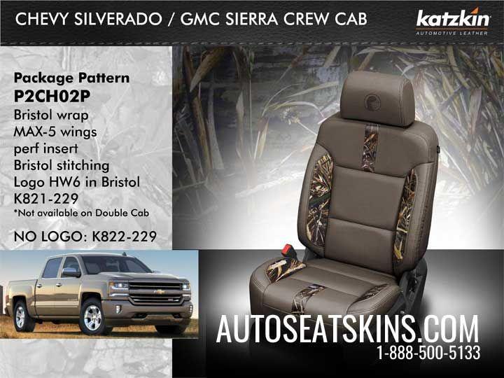 Katzkin Kamo Kit For Gmc Sierra Gmc Sierra Crew Cab Gmc Sierra