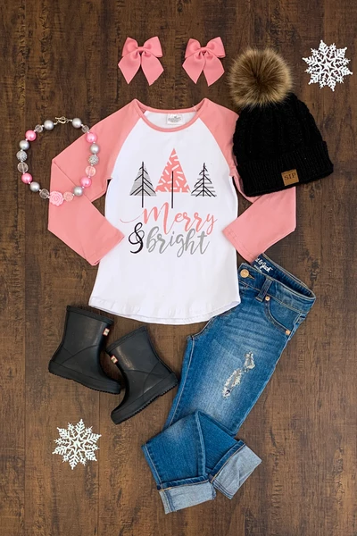 """Merry & Bright"" Top"