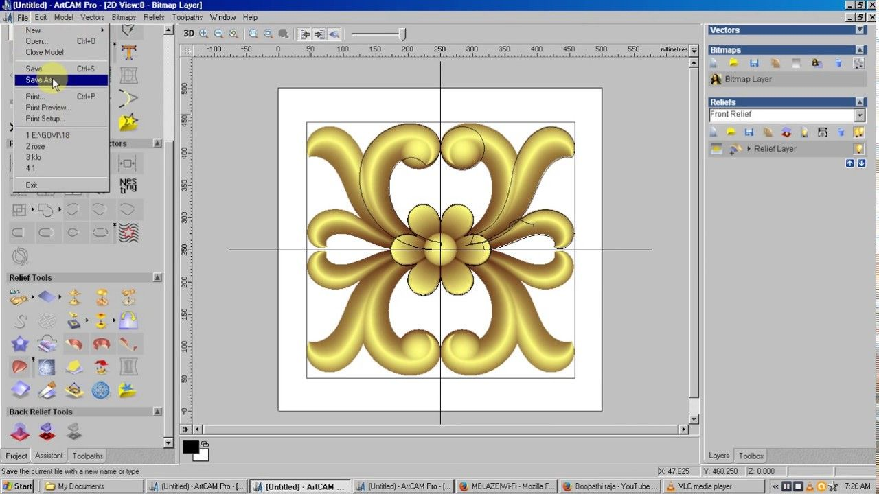 Creating flower in artcam cnc wood carving designs