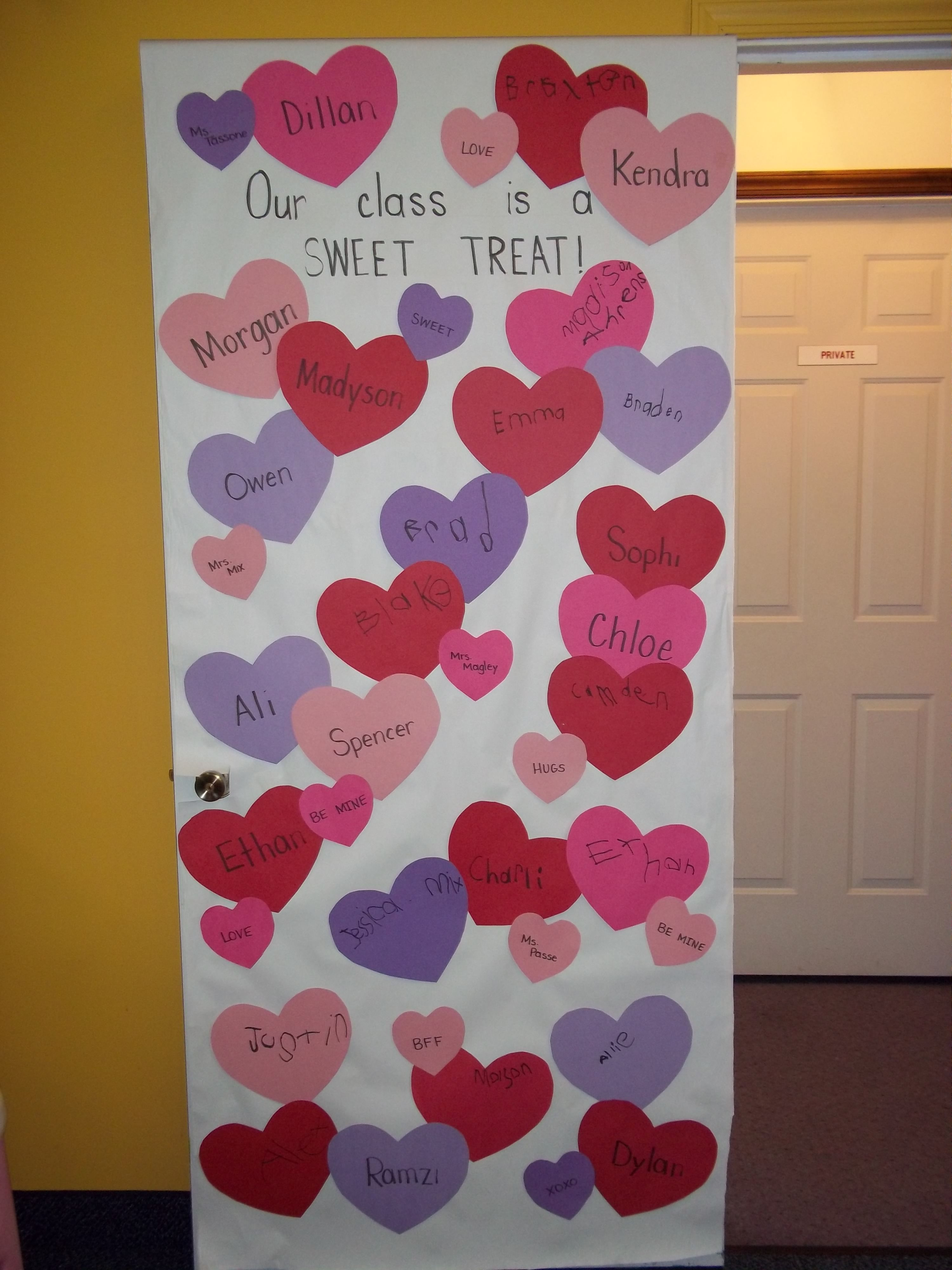 Door Decoration Valentinesvalentine Ideasclassroom