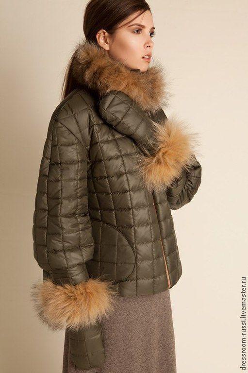 cc91f307bbd Купить или заказать Куртка с мехом лесы в интернет магазине на Ярмарке  Мастеров. С доставкой