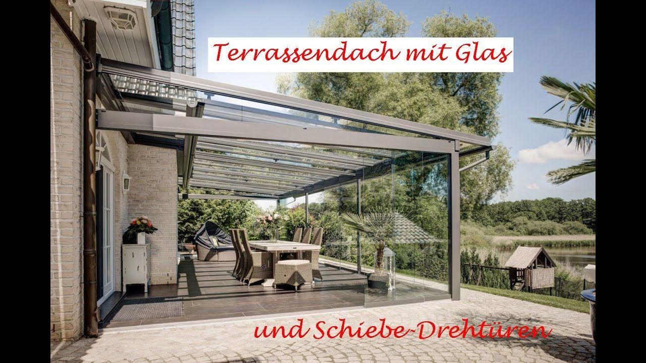 Terrassendach mit Glas und SchiebeDrehtüren