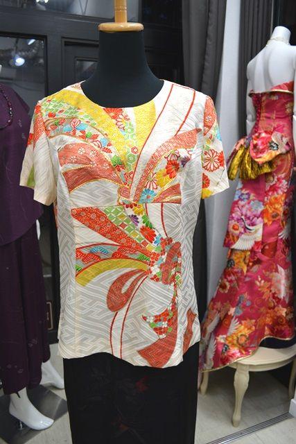 着物リメイク子供着物からTシャツのオーダー。  着物ドレス・着物リメイク
