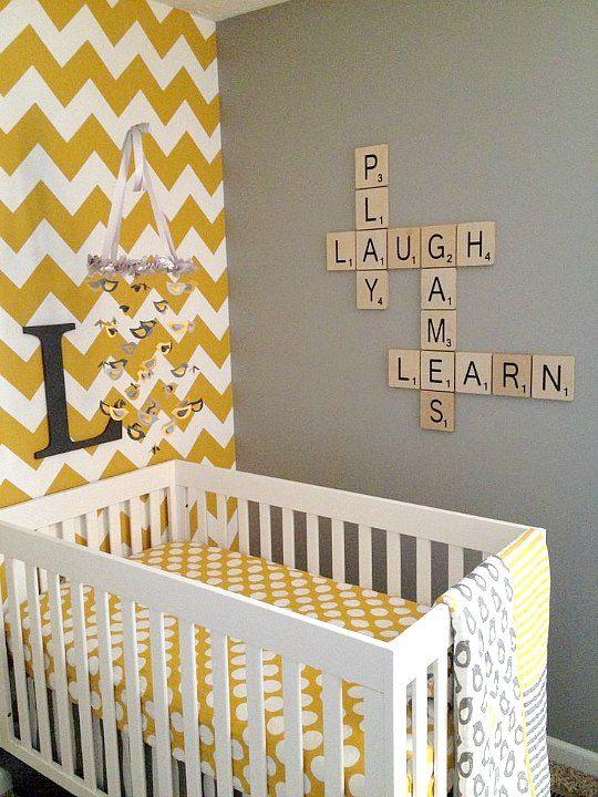 Decora las paredes infantiles con letras scrabble letras for Letras scrabble decoracion
