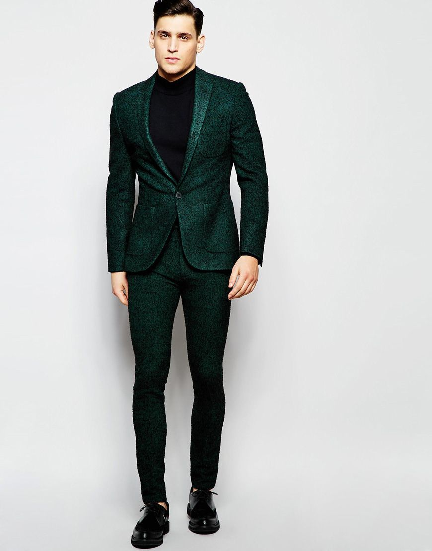 Image 1 of ASOS Super Skinny Suit In Herringbone | grooms men ...