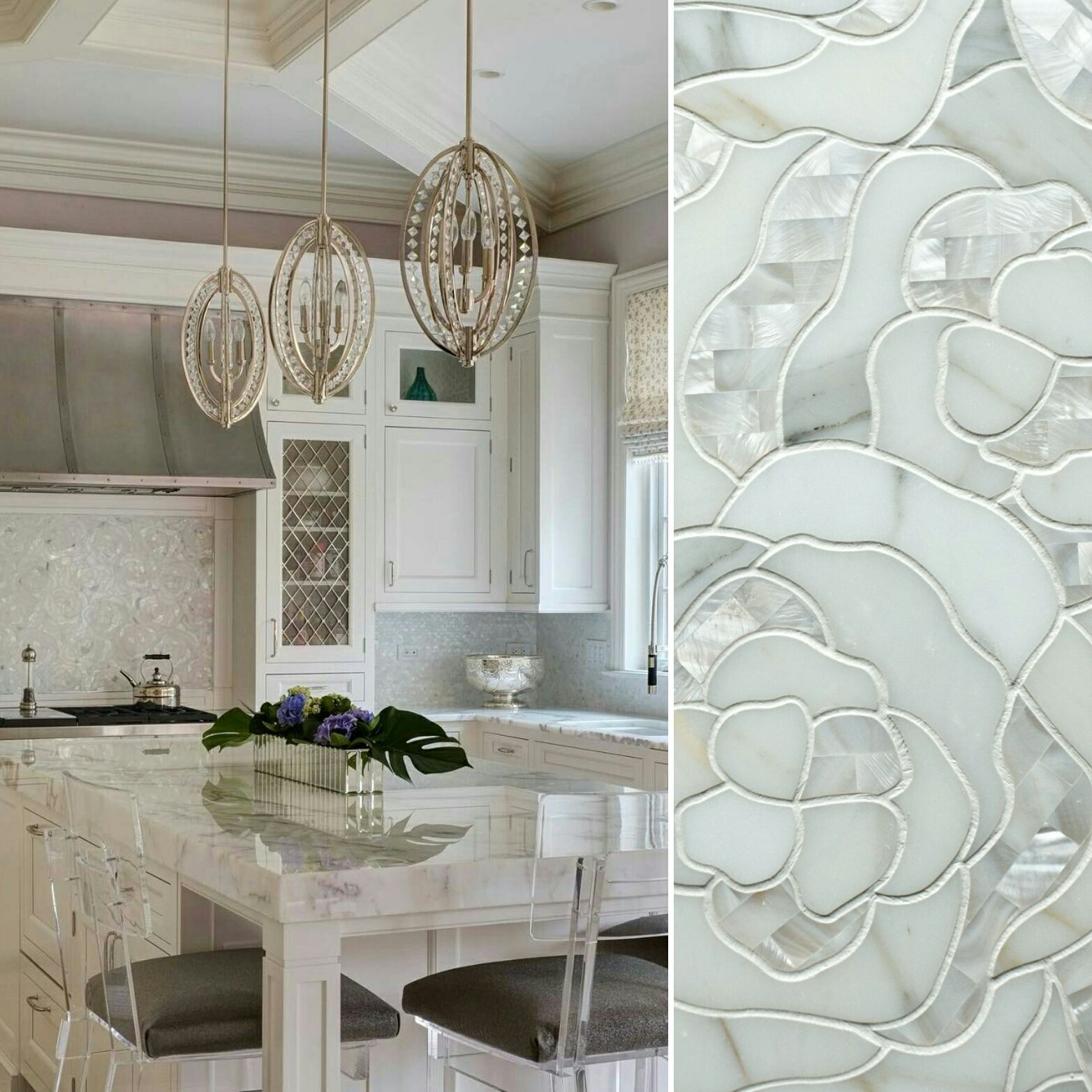 Designer Backsplash: Artistic Tile I Interior Design By Buckingham Interior