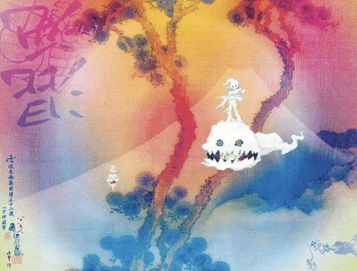 Late On A Tuesday Evening Kid Cudi Took To Twitter And Released The Artwork For Kids See Ghosts The Collaborati Ghost Album Kid Cudi Albums Album Cover Art