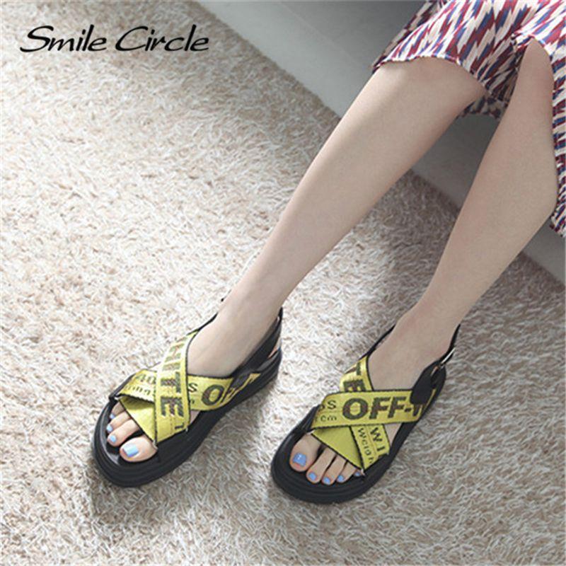 Été Nouveau Femmes Sandales Mode Chaussures Compensées dames blanches sexy Slipper en cuir,jaune,7