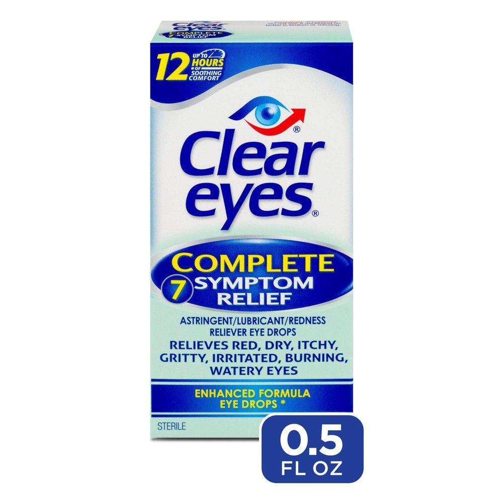 Complete 7 Symptom Relief Enhanced Formula Eye Drops 0 5 Fl Oz