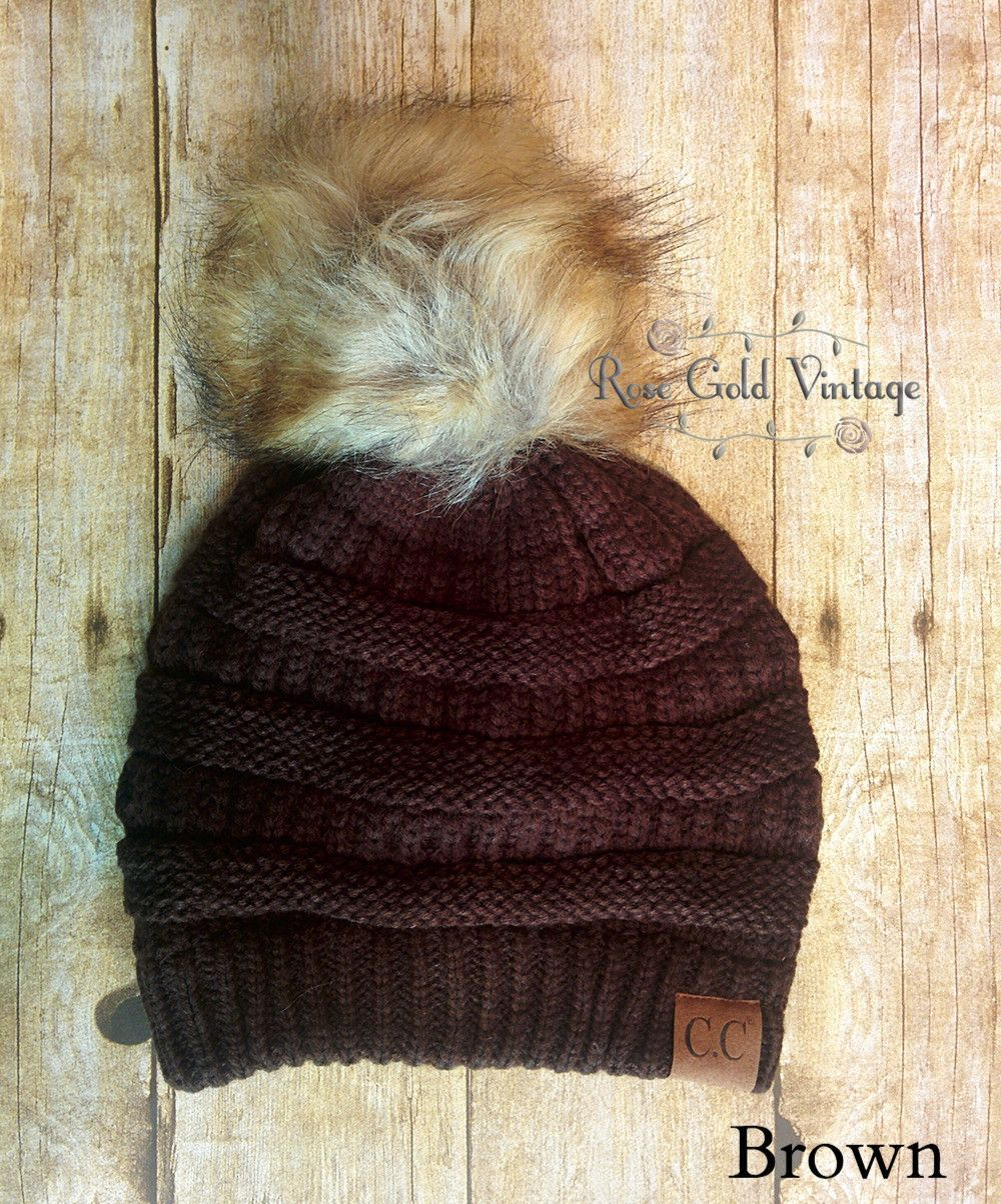A little twist on the popular CC beanie hats - a faux fur pom pom on top!  Available in 30 fabulous colors - the perfect winter accessory! 37184c6ed3f