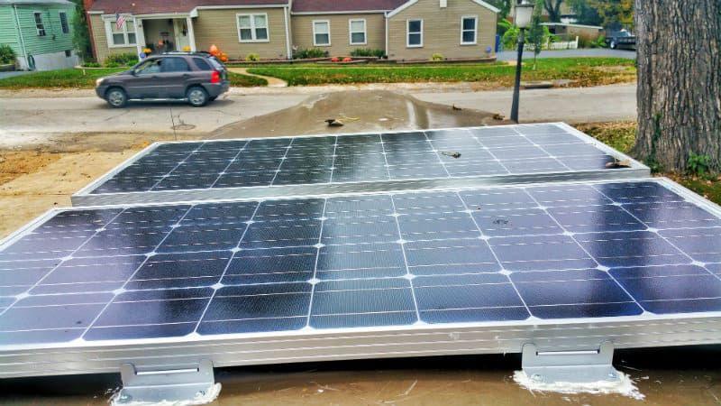 How We Mounted Solar Panels On A Fiberglass Van Roof In 2020 Solar Panels Roof Solar Panels Solar Panel Mounts