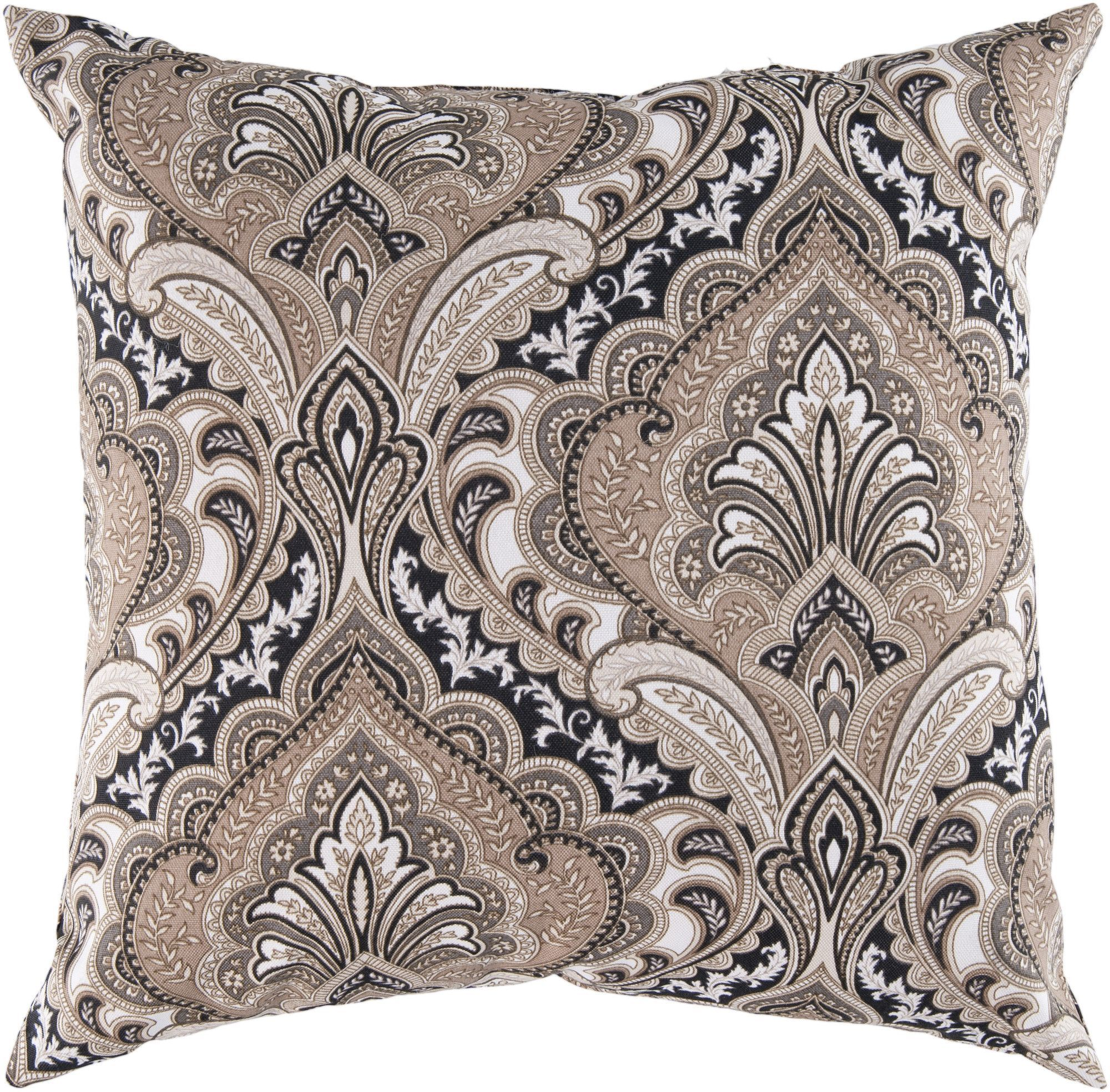 Distinguished Damask Outdoor Pillow Cover