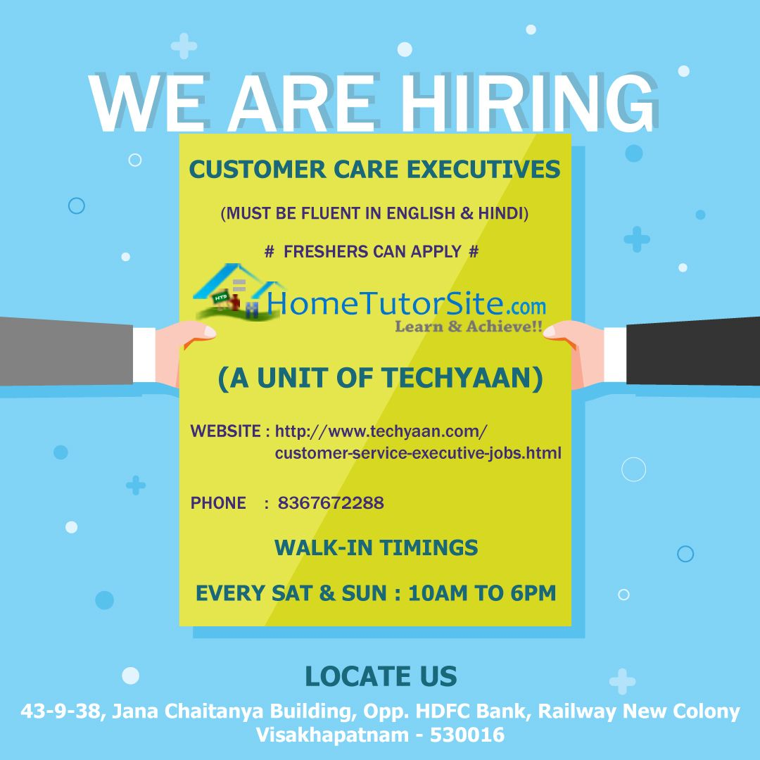 Jobs In Vizag Hiring Customer Service Executives Executive