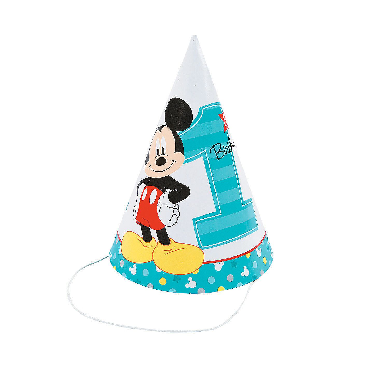 Disney Mickey S Fun To Be One Cone Party Hats