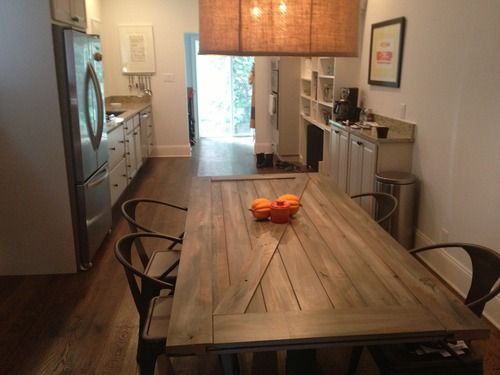 Barndoor Kitchen Table With Tabouret Chairs Retrofitted South Philly Grandma House Newlifeoldbonestumblr