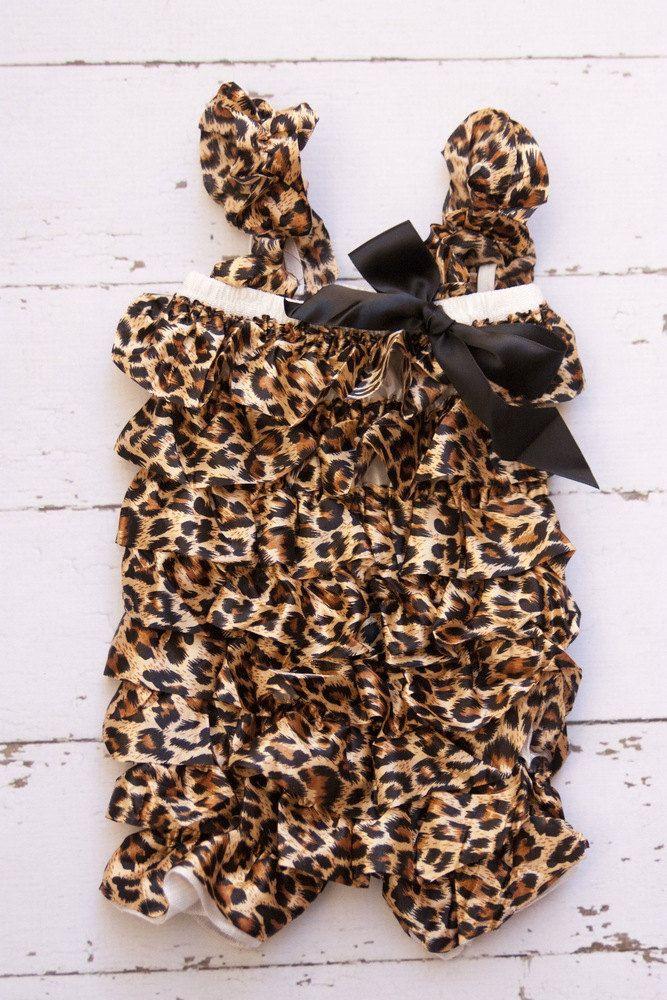 Satin Leopard Romper Photo prop Petti bloomer by BabyMeFashion, $18.50