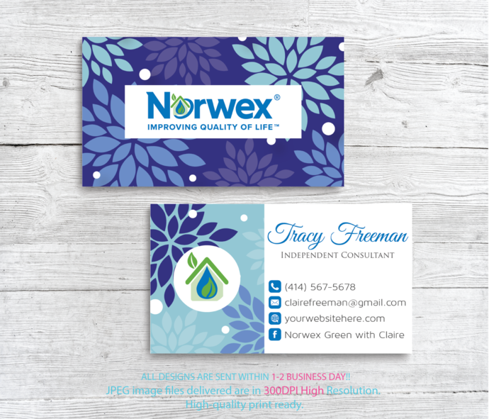 Custom Business Card Norwex Green Cleaning Business Cards Floral Norwex Business Card Personalized Business Card Nr17 Isagenix Business Cards Cleaning Business Cards Custom Business Cards