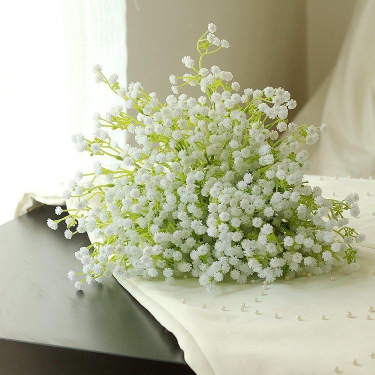 Künstliche PU Gypsophila Bouque Blumen Hochzeit Fake Babysbreath ...