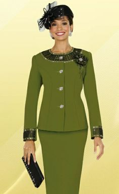 Elegant Women Church Suits | Fifth Sunday by Ben Marc Womens Church Suit 52572 image