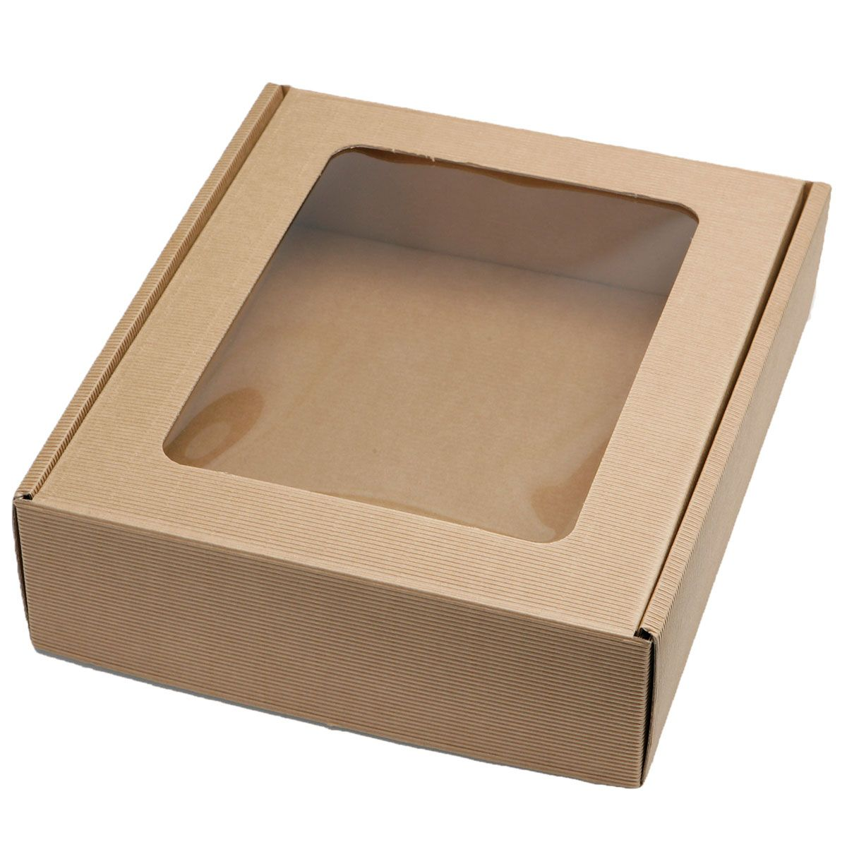 Favor Boxes And Containers : Large natural gift hamper bottle box card