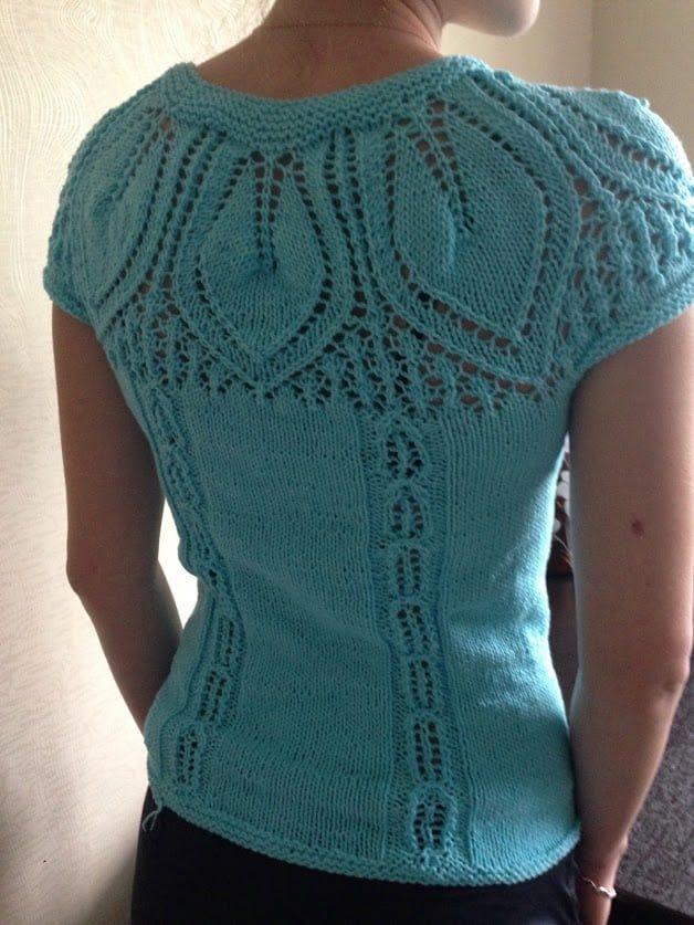 Free Knitting Patterns - Round Yoke Top in 2020 | Knitting ...