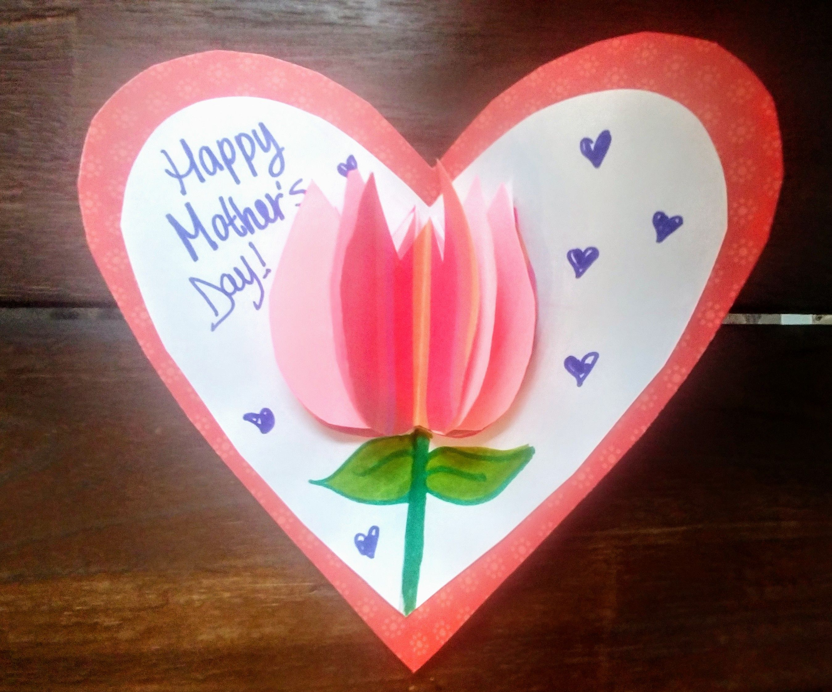 Ms Albert S 3d Tulip Card Example Tulips Card Happy Mothers Day Card Craft