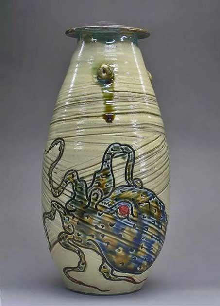 Japanese Ceramic Octopus Vase Octopuspulpo Pinterest