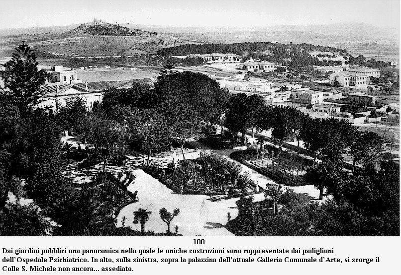Cagliari panorama dai giardini Pubblici sullo sfondo