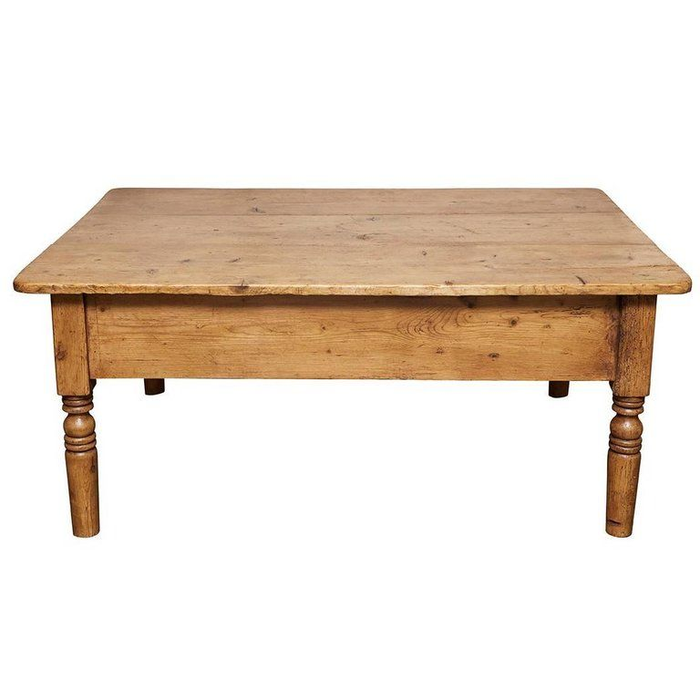 English Pine Coffee Table Circa 1880s From A Unique Collection