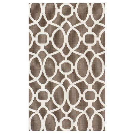 Taupe Trellis Outdoor Rug Threshold™ Tar stair runner
